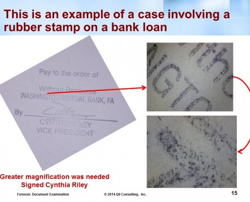 mortgage fraud Stamped signature