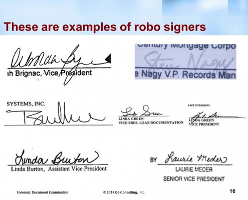 mortgage fraud robosigners